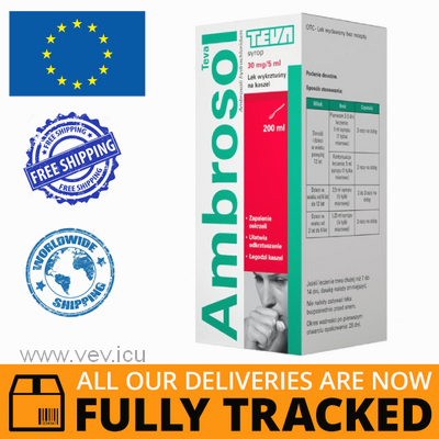 AMBROSOL 30 MG / 5 ML, SYRUP 200 ML - MADE IN POLAND - FREE SHIPPING