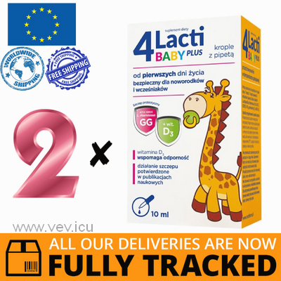2 x 4LACTI BABY PLUS DROPS 10ML - MADE IN POLAND - FREE SHIPPING
