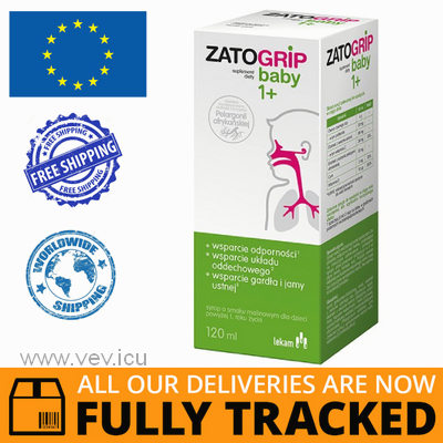 ZATOGRIP BABY SYRUP 120ML - MADE IN POLAND - FREE SHIPPING