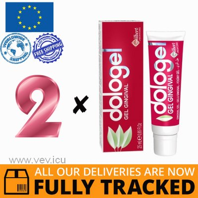 2 x DOLOGEL GEL FOR GUM MASSAGE 25ML — MADE IN POLAND — FREE SHIPPING