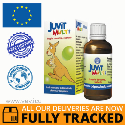 JUVIT MULTI ORAL DROPS 10ML - MADE IN POLAND - FREE SHIPPING