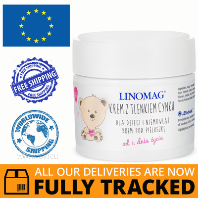 LINOMAG CREAM WITH ZINC OXIDE 50ML — MADE IN POLAND — FREE SHIPPING