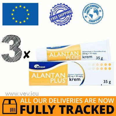 3 x ALANTAN PLUS CREAM 35G — MADE IN POLAND — FREE SHIPPING