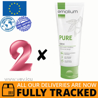 2 x EMOLIUM PURE CREAM FOR DRY, SENSITIVE SKIN, PRONE TO ALLERGIES 200ML — MADE IN FRANCE — FREE SHIPPING