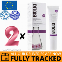 2 x BIOLIQ 45+ FIRMING AND SMOOTHING CREAM AROUND THE EYES AND LIPS 15ML — MADE IN POLAND — FREE SHIPPING