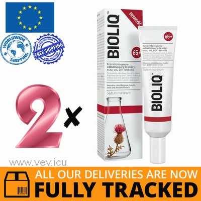 2 x BIOLIQ 65+ INTENSIVE REBUILDING CREAM FOR EYES, LIPS, NECK AND DECOLLETE 30ML — MADE IN POLAND — FREE SHIPPING