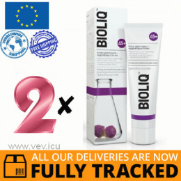 2 x BIOLIQ 45+ FIRMING AND SMOOTHING NIGHT CREAM 50ML — MADE IN POLAND — FREE SHIPPING