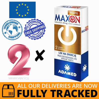 2 x MAXON FORTE 0,05G 2 TABS — MADE IN POLAND- FREE SHIPPING