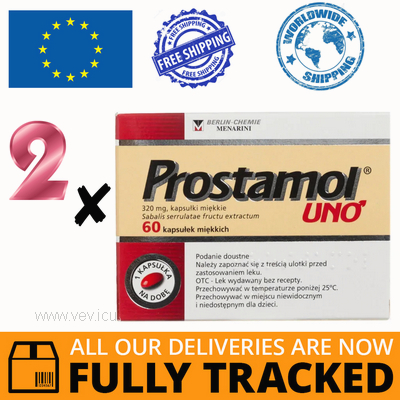 2 x PROSTAMOL UNO 320MG 60 CAPS - MADE IN GERMANY- FREE SHIPPING