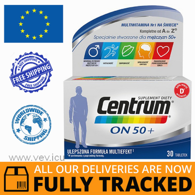 CENTRUM HE 50+ 30 TABS  - MADE IN POLAND - FREE SHIPPING