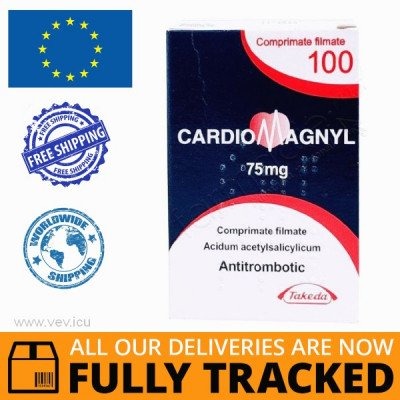 CARDIOMAGNYL 75MG 100 PILLS  - MADE IN GERMANY - FREE SHIPPING