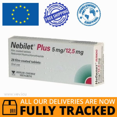 NEBILET PLUS 5/12,5 28 PILLS - MADE IN GERMANY - FREE SHIPPING