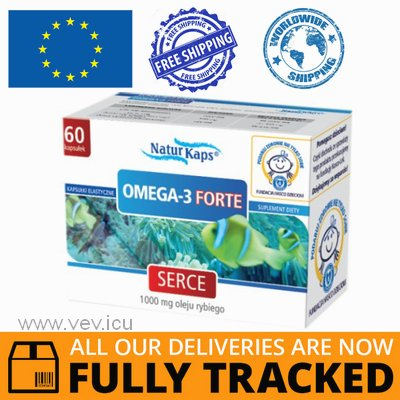 OMEGA 3 FORTE 60 CAPS - MADE IN POLAND - FREE SHIPPING