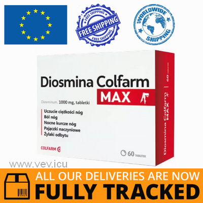 DIOSMIN MAX 1000MG 60 TABS - MADE IN POLAND - FREE SHIPPING