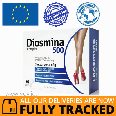 DIOSMINA 500 COMPLEX 60 TABS - MADE IN POLAND - FREE SHIPPING