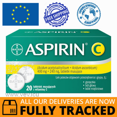 ASPIRIN C 20 TABS — MADE IN GERMANY — FREE SHIPPING