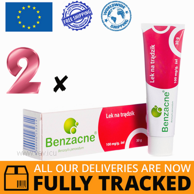 2 x BENZACNE 10% GEL 30G — MADE IN JAPAN — FREE SHIPPING