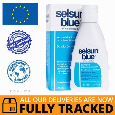 SELSUN BLUE SHAMPOO FOR NORMAL HAIR 125 ML — MADE IN FRANCE — FREE SHIPPING