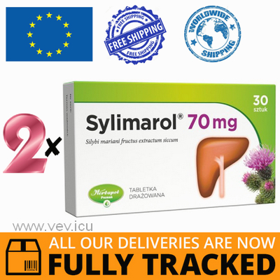 2 x SYLIMAROL 70 MG 60 TABS - MADE IN POLAND - FREE SHIPPING