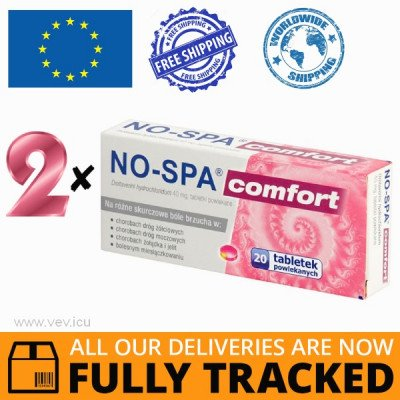 2 x NO-SPA COMFORT 40MG 20 TABS — MADE IN FRANCE — FREE SHIPPING