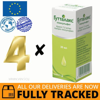 4 x GUTTALAX DROPS 30 ML = 120 ML - MADE IN ITALY - FREE SHIPPING