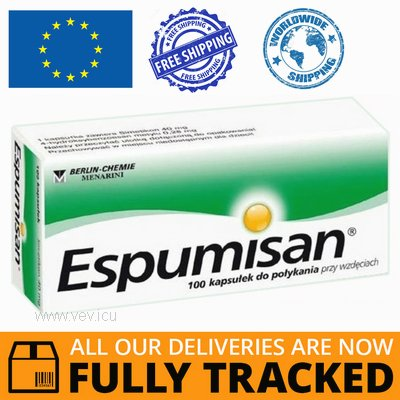 ESPUMISAN 40 MG 100 CAPS — MADE IN GERMANY- FREE SHIPPING