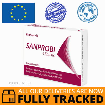 SANPROBI 4 ENTERIC 20 CAPS - MADE IN GERMANY - FREE SHIPPING