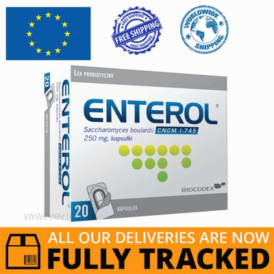 ENTEROL 250MG 20 CAPS - MADE IN FRANCE - FREE SHIPPING