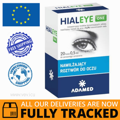 HIALEYE ONE 0,2% MOISTURIZING EYE SOLUTION 0,5ML x 20PCS — MADE IN POLAND — FREE SHIPPING