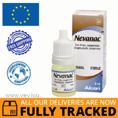 NEVANAC EYE DROPS 0,1% 5ML — MADE IN BELGIUM — FREE SHIPPING