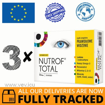 3 x NUTROF TOTAL + VITAMIN D3 30 CAPS - MADE IN POLAND - FREE SHIPPING