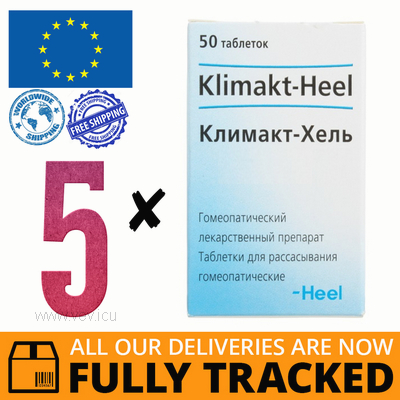 5 x KLIMAKT HEEL 50 TABS - MADE IN GERMANY - FREE SHIPPING