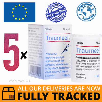 5 x TRAUMEEL S 50 TABS — MADE IN GERMANY — FREE SHIPPING