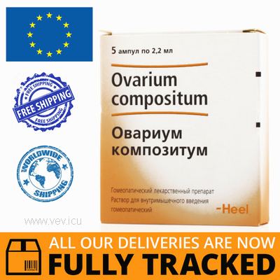 OVARIUM COMPOSITUM INJECTION FOR AMPOULES 2.2ML 5pcs — MADE IN GERMANY — FREE SHIPPING
