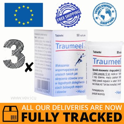 3 x TRAUMEEL S 50 TABS — MADE IN GERMANY — FREE SHIPPING