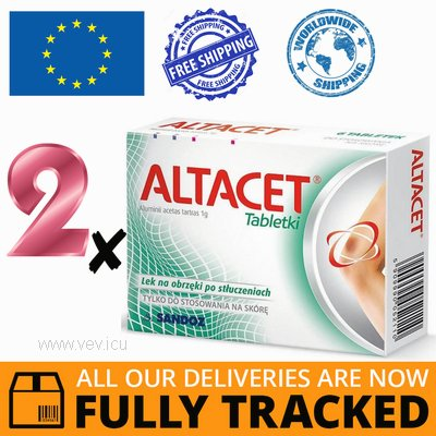 2 x ALTACET 6 TABS — MADE IN POLAND — FREE SHIPPING
