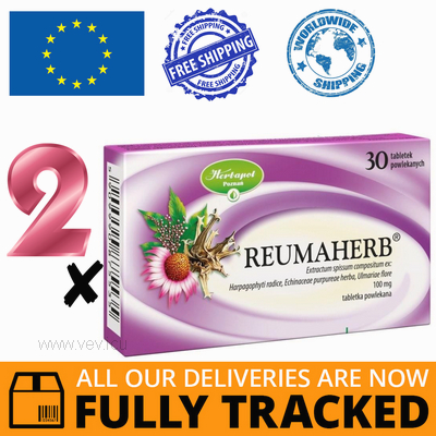 2 x REUMAHERB 30 TABS — MADE IN POLAND — FREE SHIPPING