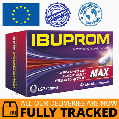 IBUPROM MAX 400MG 48 TABS — MADE IN POLAND — FREE SHIPPING