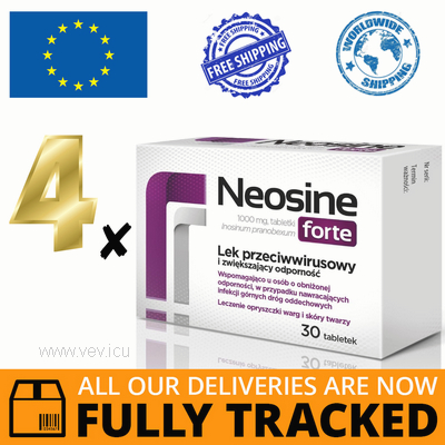 4 x NEOSINE FORTE 1000MG 30 TABS - MADE IN POLAND - FREE SHIPPING