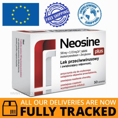 NEOSINE PLUS 500 MG + 3,125 MG 50 TABS - MADE IN POLAND- FREE SHIPPING
