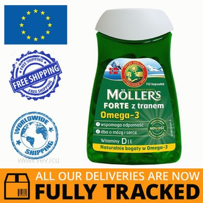 MOLLERS FORTE WITH COD LIVER OIL 112 CAPS - MADE IN NORWEGIA - FREE SHIPPING