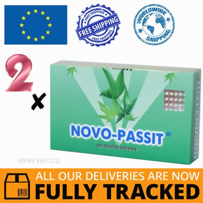 2 x NOVO-PASSIT 30 TABS - MADE IN CZECH REPUBLIC - FREE SHIPPING