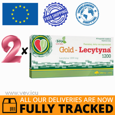 2 x GOLD LECITHIN 1200 60 CAPS - MADE IN POLAND - FREE SHIPPING