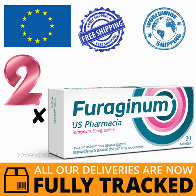 2 x FURAGINUM US PHARMACIA 50MG 30 TABS — MADE IN POLAND — FREE SHIPPING