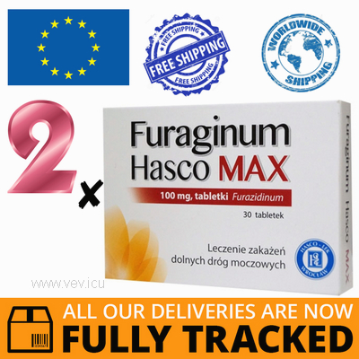 2 x FURAGINUM HASCO MAX 100 MG 30 TABS — MADE IN POLAND — FREE SHIPPING