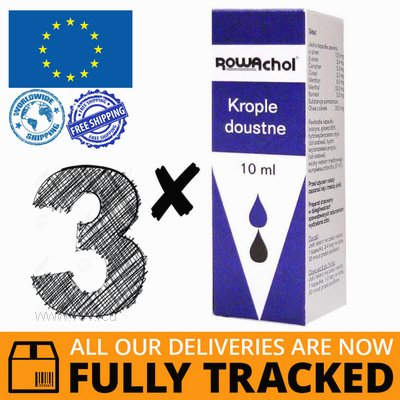 3 x ROWACHOL ORAL DROPS 10ML — MADE IN GERMANY — FREE SHIPPING