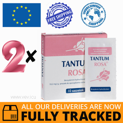 2 x TANTUM ROSA 10 SACHETS - MADE IN ITALY - FREE SHIPPING