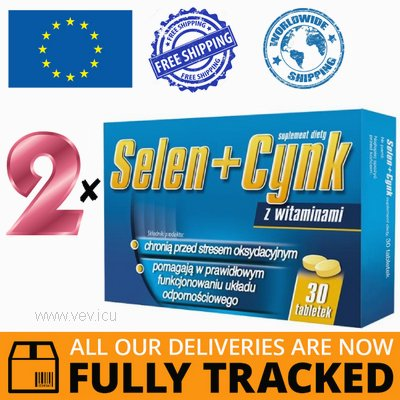 2 x SELENIUM + ZINC WITH VITAMINS 30 TABS - MADE IN POLAND - FREE SHIPPING