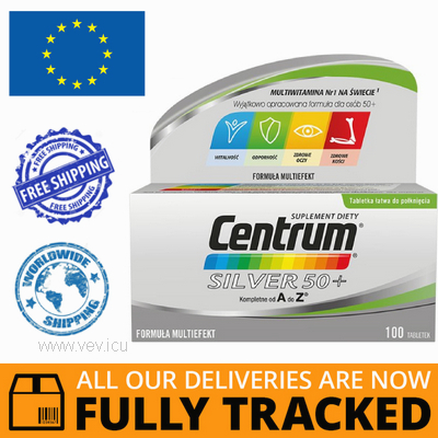 CENTRUM SILVER 50+, 100 TABS  - MADE IN POLAND - FREE SHIPPING