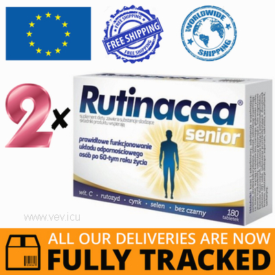 2 x RUTINACEA SENIOR 180 TABS - MADE IN POLAND - FREE SHIPPING
